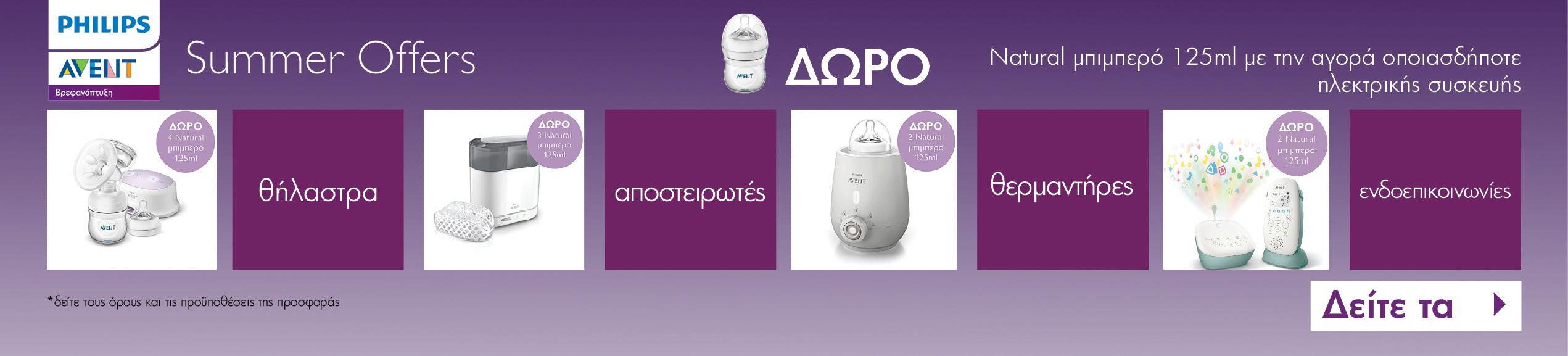 Δώρο μπουκάλι 125ml με κάθε αγορά ηλεκτρικής συσκευής Philips Avent